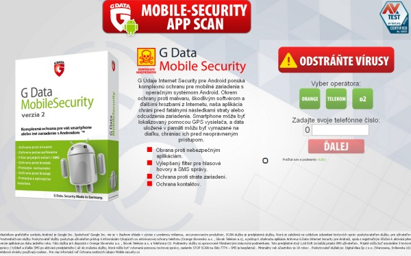 G DATA security falošné hlásenie